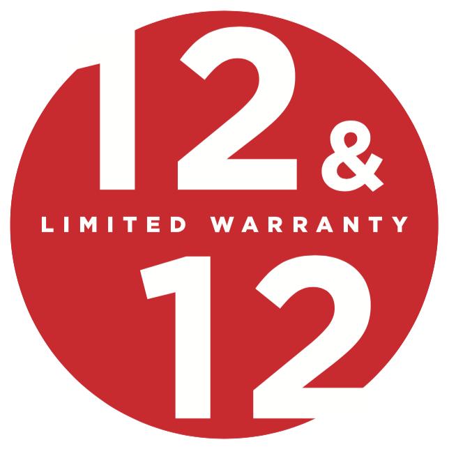 12 12 limited warranty logo