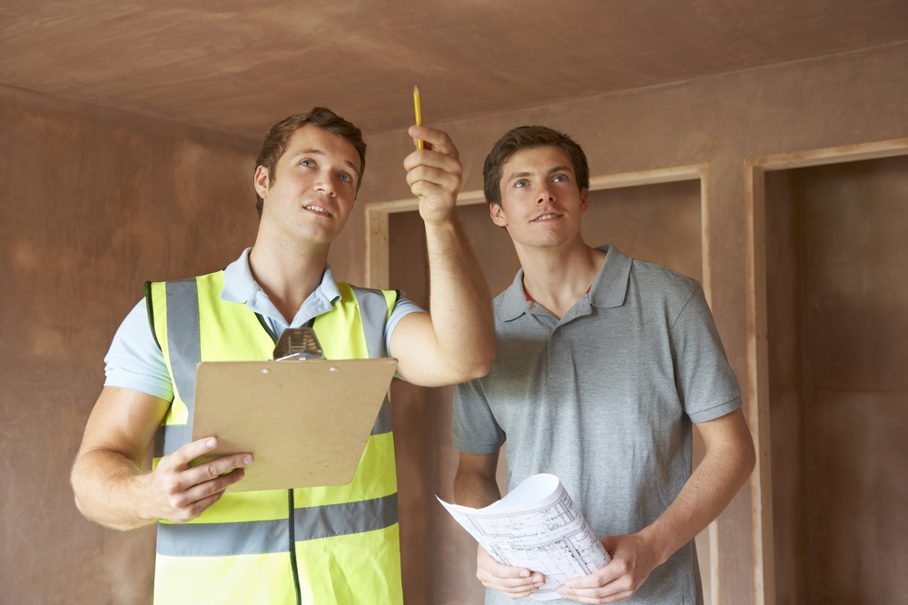 Inspecting a home ventilation system with home owner