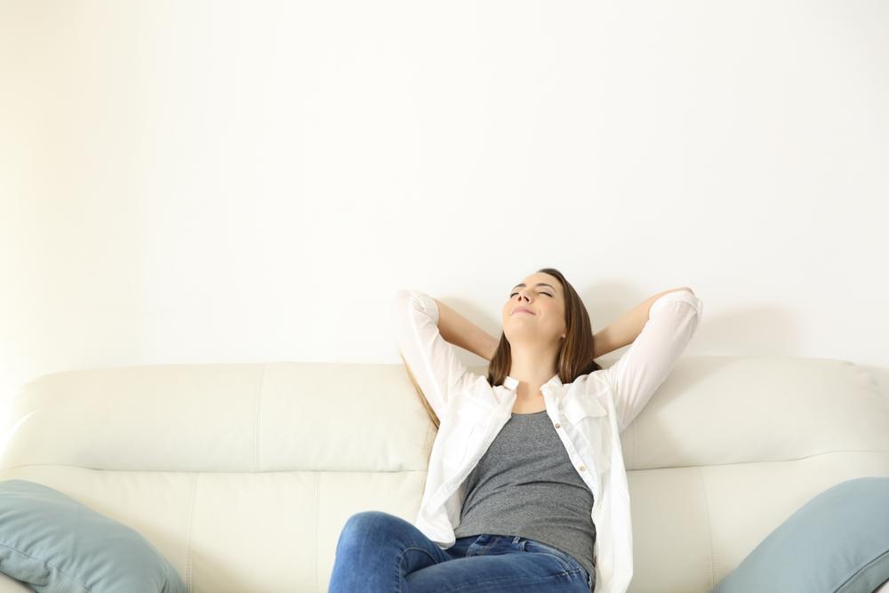 Person Breathing Fresh air