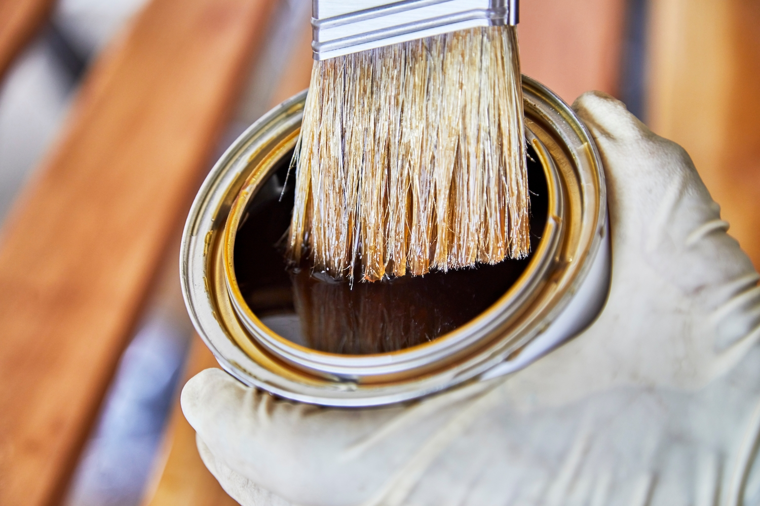 VOCs in varnish and stain
