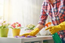 Healthy Home Energy and Consulting, Woman spring cleaning, NY