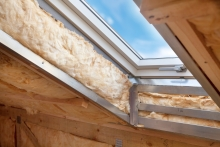 attic insulation, skylight in attic