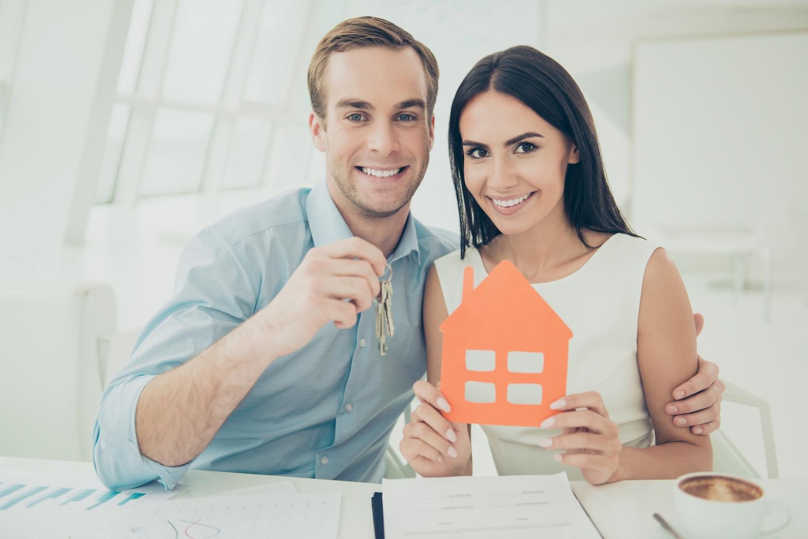happy couple, homeowners