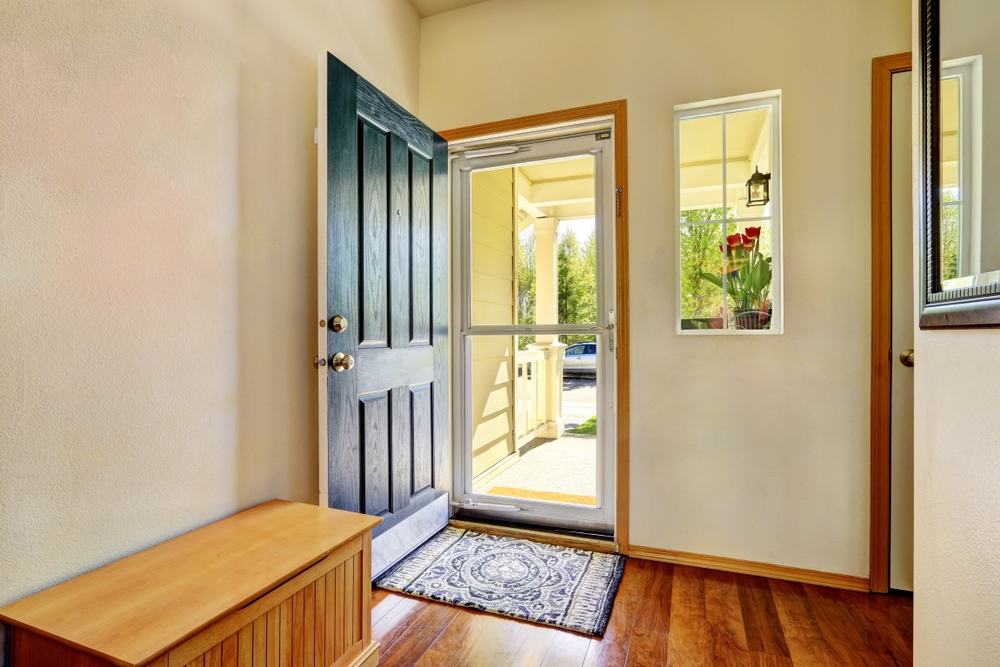front door of house open